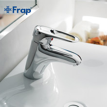 Frap robinets de lavabo de mélangeur, corps en laiton, robinets de mélangeur tuyau d'eau chaude et froide, robinet de salle de bains en cuivre chromé F1004