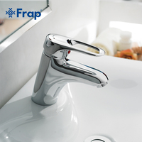Frap Brass body Basin Taps Faucets Mixer hot and cold water hose Chrome copper bathroom faucet F1004
