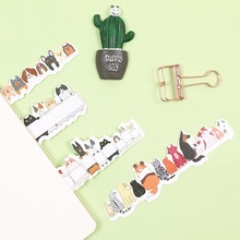 6 set/Lot Kawaii animal bookmark for book Cute dog cat Hand in hand  post card Korean Stationery School supplies FC127
