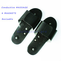 50 pairs Foot Conductive MassageTherapy Treatment Device Magnetic Health Slippers For Tens Units 8 Magnets Resizable