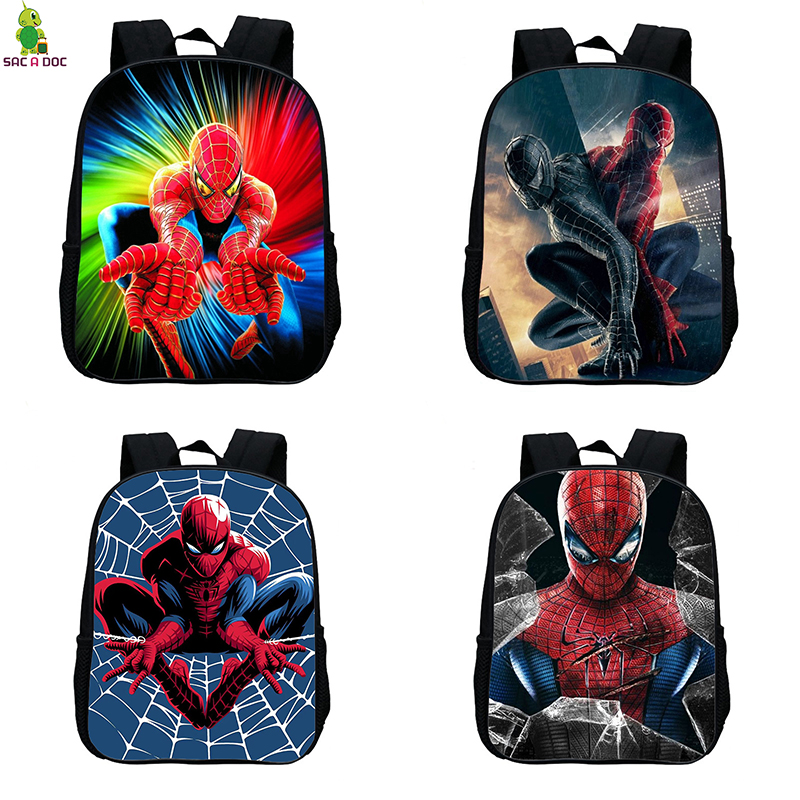 Superhero Spider Man 12 Inches Kids School Bags For Children Backpacks Amazing Spiderman SchoolBag Baby Boys Small Backpack Bag