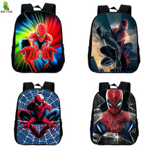 Superhero Spider Man 12 Inches Kids School Bags for Children Backpacks Amazing Spiderman SchoolBag Baby Boys Small Backpack Bag(China)