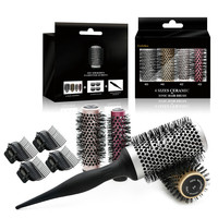CestoMen Professional Combs Round Thermal Brush Set Ceramic Hair Brushes For Women Blow Drying Curling Straightening 4 Sizes/Set