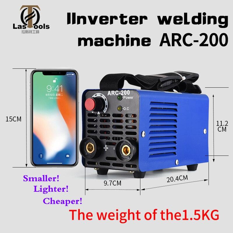 Nouveau Zx7-200 Dc onduleur ARC manuel soudage Machine outils de soudage pour la maison débutant léger efficace puissance stabilisée soudure