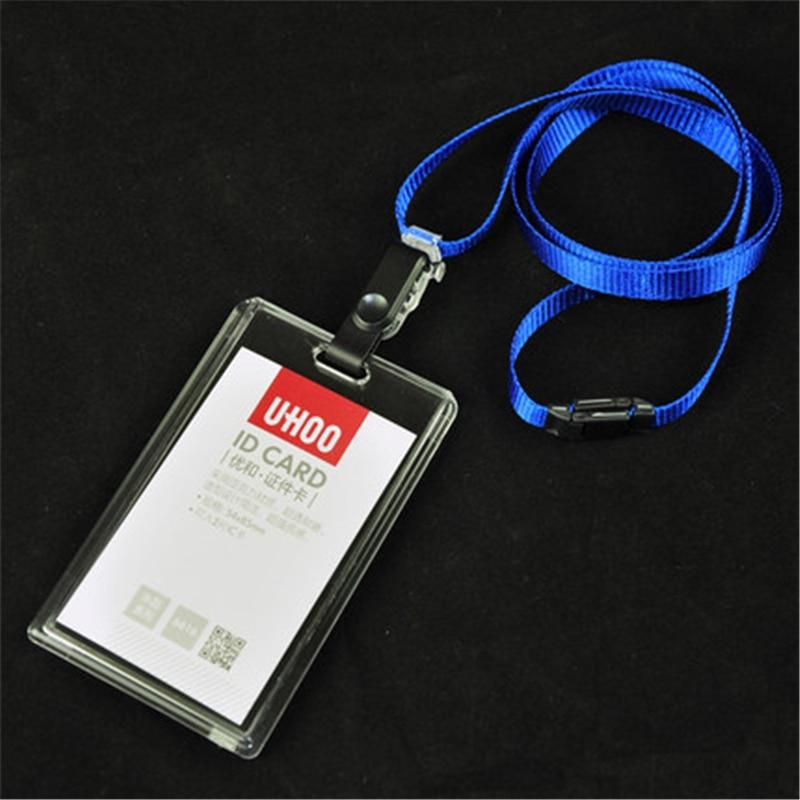 2pcs Card Bag name badge card case Business Card Holder plastic ...