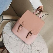 Tassel Women Small PU Leather Backpack