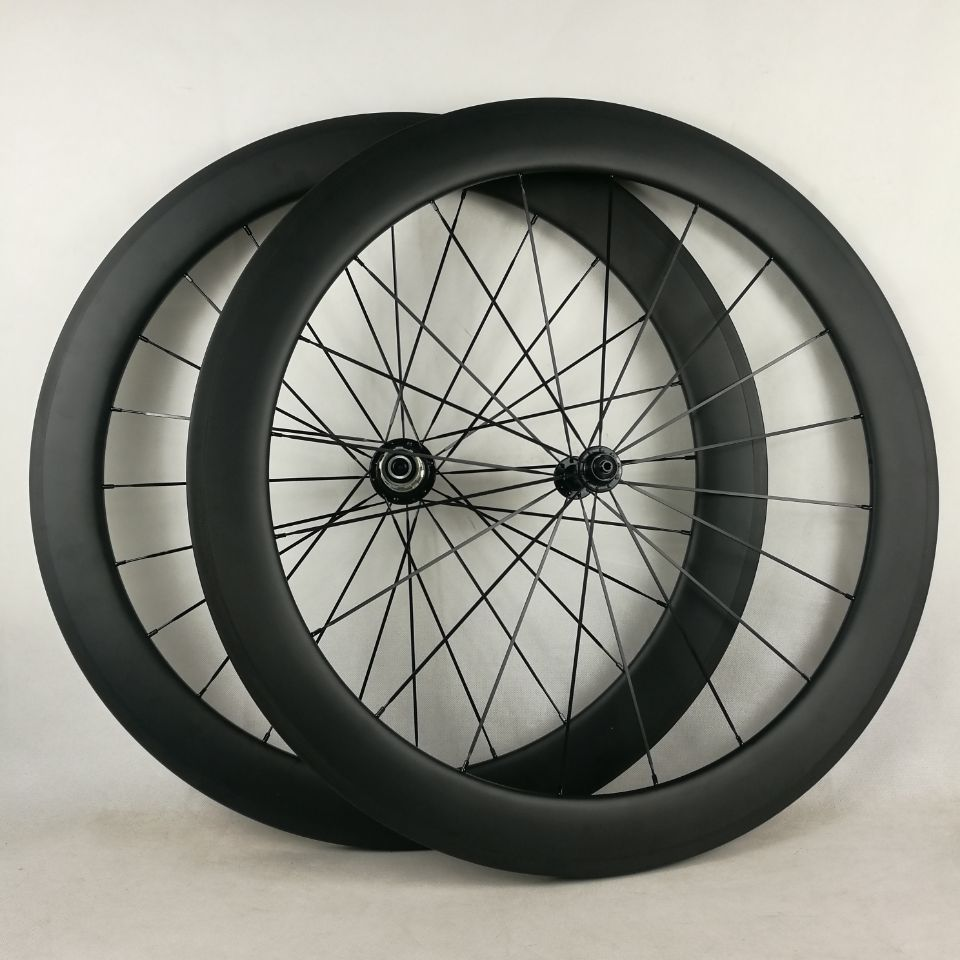 60mm Clincher 700c Carbon Wheel With Alloy Braking Surface