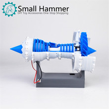 Motor aeromotor turbo ventilador modelo de motor de ar modelo de impressora 3d elétrica
