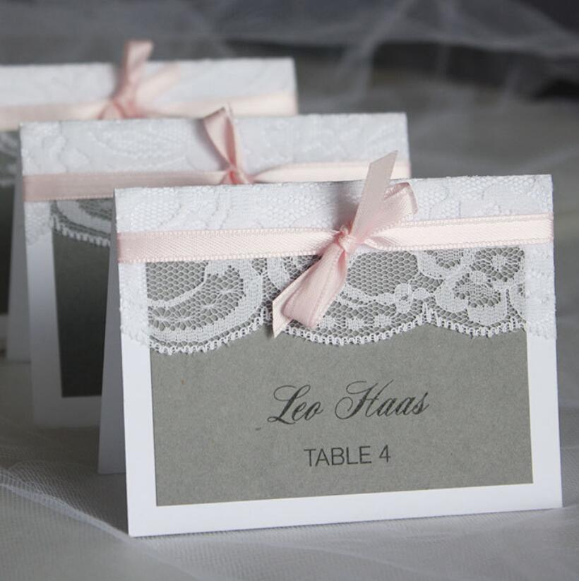 Places To Print Wedding Invitations: White Lace Wedding Invitations Table Name Place Card Print