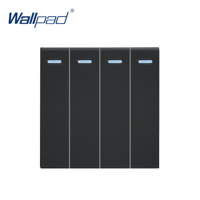 Wallpad Luxury 4 Gang 2 Way Switch Function Key For Wall Push Button Switch White And Black Plastic Module Only