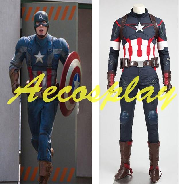 avengers age of ultron captain america cosplay costume steve rogers uniform adult men halloween costume customized
