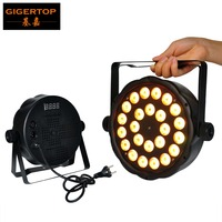 Gigertop 24x3W RGB 3IN1 Flat Led Par Light Cheap Price Triple Color Stage Par Cans 100W Smooth Wall Washer Effect Plastic Case