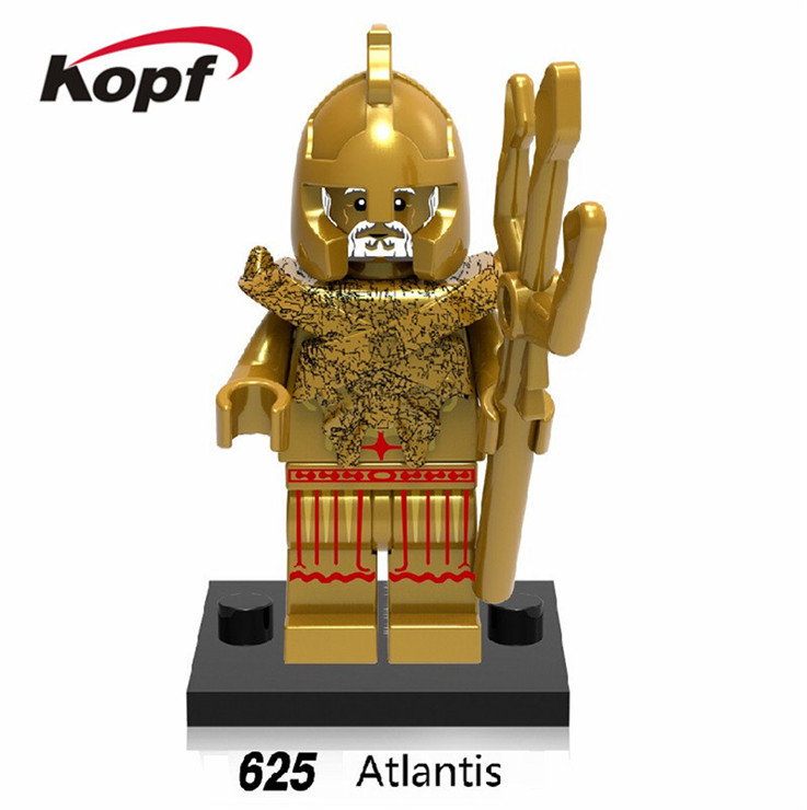 20Pcs Super Heroes Atlantis Medieval Egyptian Warrior Pharaoh Barbarian Action Figures Building Blocks Children Gift Toys XH 625