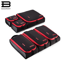 BAGSMART New Breathable Travel Accessories 6 Set Packing Cubes Luggage Packing Organizers Bag Fit 24 Carry