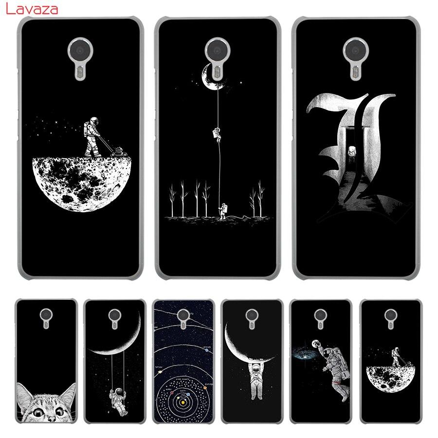 Lavaza Космос Луна милые Товары для кошек черный Жесткий чехол для Meizu m5c M6 M5 m5s M2 M3 M3s Mini Note U10 u20 Pro 7 Plus 6 крышка