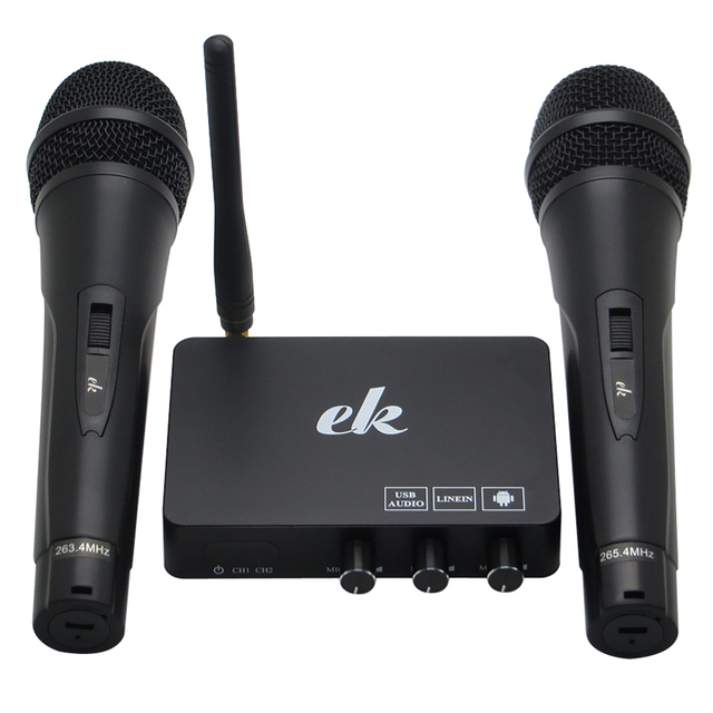 المحمولة اللاسلكية الأسرة المنزل كاريوكي صدى نظام الغناء ميكروفون صندوق مشغل كاريوكي USB الصوت ل تي في بوكس أندرويد الذكية TV