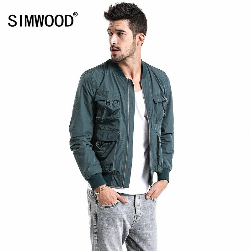 SIMWOOD 2019 Nouveau Printemps Blouson Hommes grande taille Survêtement Coupe-Vent De Mode manteaux décontractés Slim fit Marque Vêtements 180067
