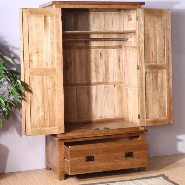 Personalizado europea de madera de roble blanco armario for Armario jardin madera