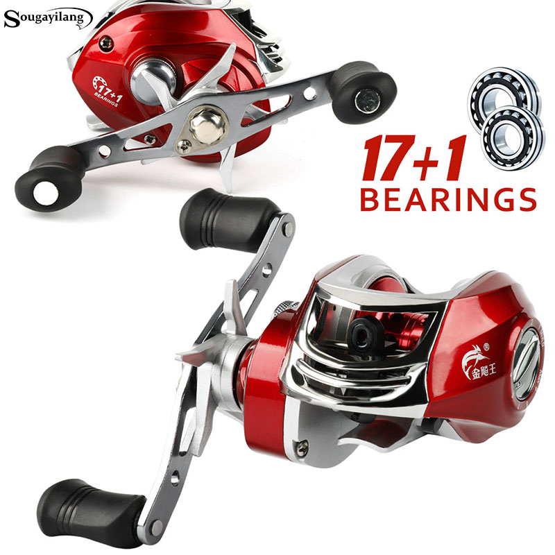 Sougayilang Baitcasting Reel 17.5LB Strong Drag Power 7.2:1 High Speed Right/Left Handed Reels Carp Fishing Reel Fishing Tackle цена