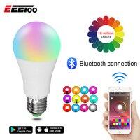 EeeToo RGB умная светодиодная с Bluetooth лампы E27 15 W/20 W приложение музыка Голос Управление Smart освещения лампы несколько Цвета светодиодный свет для...