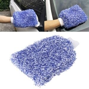 Image 1 - 1PC Car Care Glove Plush Soft Microfibre Wash Mitt Microfiber Car Cleaning Detailing