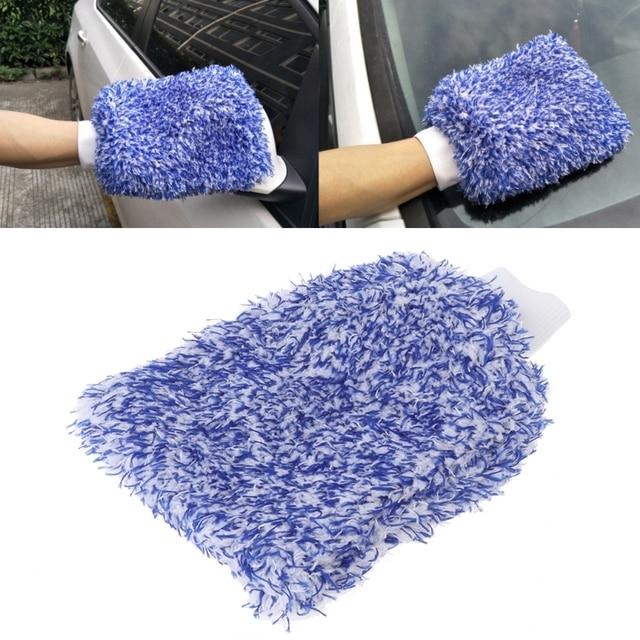 1PC Car Care Glove Plush Soft Microfibre Wash Mitt Microfiber Car Cleaning Detailing
