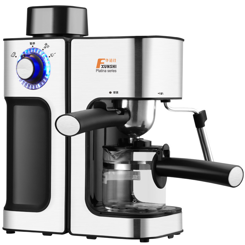 Italian Coffee Machine Semi automatic Steam Type Pump Pressure Mini Pot Milk Foam