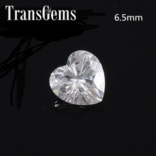 TransGems 1 Carat 6.5mm F Color Heart Shape Lab Grown Moissanite Diamond Loose Stone as Real
