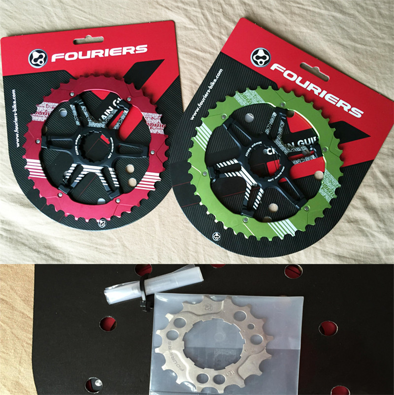Fouriers CR-DX008-SK3 CNC Two Piece Rear Sprocket 40T 42T BICYCLE Chain Ring Bike Chainrings Mage SK2 For 10 Speed - Cassette fouriers 7075 oval single chain ring 38t 40t 42t 44t 46t 48t chainrings bcd 104mm narrow wide tooth mtb bike chainwheel crank