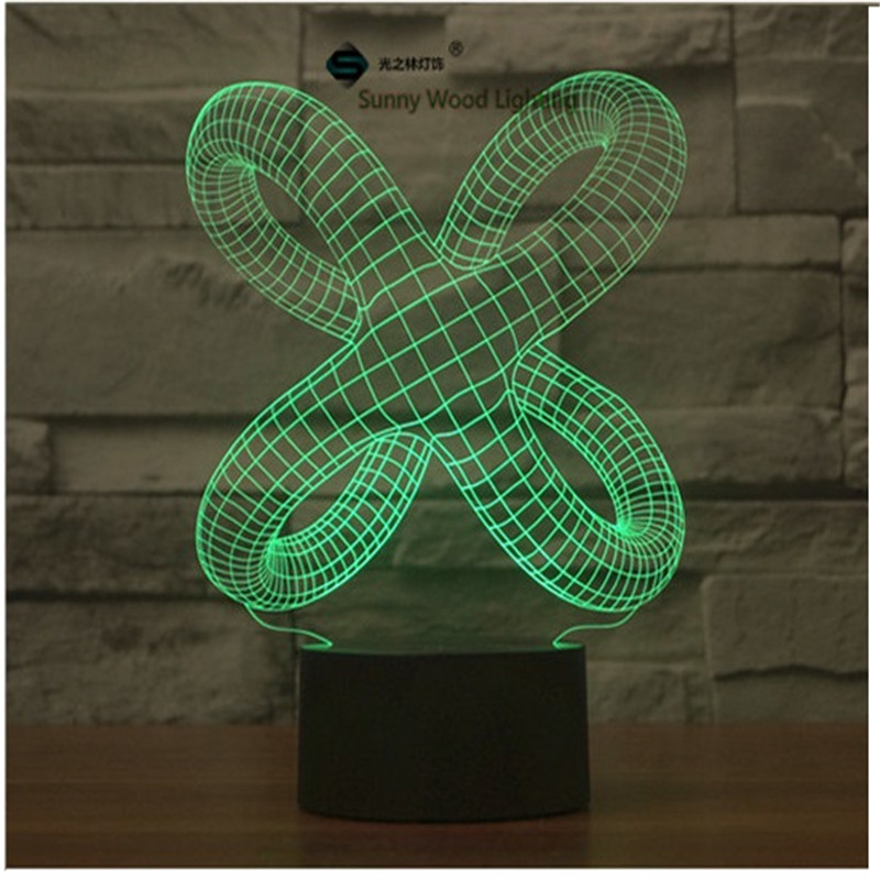 Vine touch switch LED 3D lamp ,Visual Illusion 7color changing 5V USB for laptop, desk decoration toy lamp