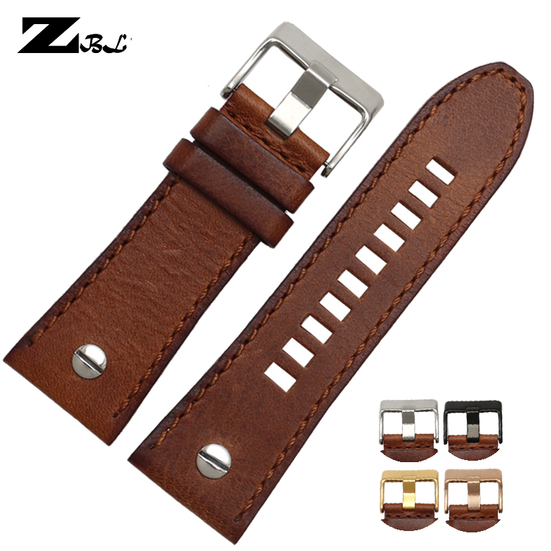 Watchband 28mm Genuine Leather Bracelet Diesel Watch Strap Wristwatches Band For DZ7193 DZ7214  DZ7311 DZ7312 DZ7313 Watch Strap