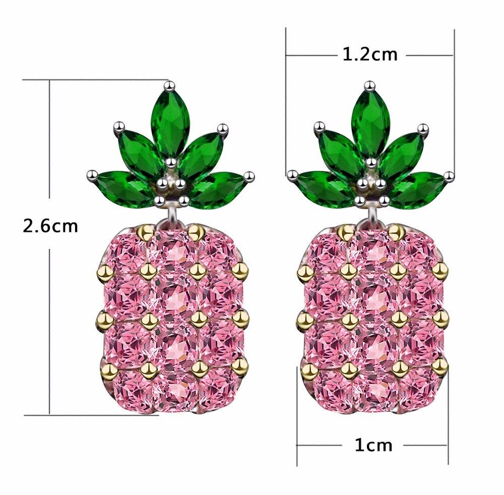 Elensan 925 Sterling Silver Circle Crystal Stud Earrings Hypoallergenic Earring for Women 1KMZOUa