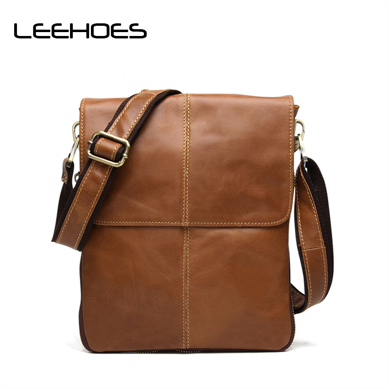 Famous Brand Leather Men Bag Casual Business Leather Men Messenger Bag High Quality Vintage Men's Crossbody Bag Bolsas Male цена