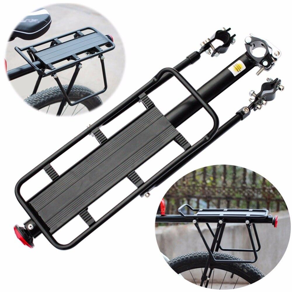 Réglable Alliage Vélo Bagages Rack Pannier Sac Vélo Porte bagages Arrière Siège VTT Vélo Stand Support Support à Vélo Accessoires Vélo dans Porte-bicyclette de Sports et loisirs
