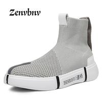 ZENVBNV 2018 Spring Men Casual Shoe Men Sneaker Shoes Flats Comfortable Slip On Breathable Socks Shoes Unisex casual shoes 39~44