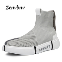 ZENVBNV 2018 Spring Men Casual Shoe Men Sneaker Shoes Flats Comfortable Slip On Breathable Socks Shoes Unisex casual shoes 39~44