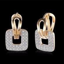 537a3f4d2a31 Diseño de Moda pequeño huggie Pendientes de Aro para mujer clúster  pavimentado zirconia piedra cristal earing joyería 2016 mle21.