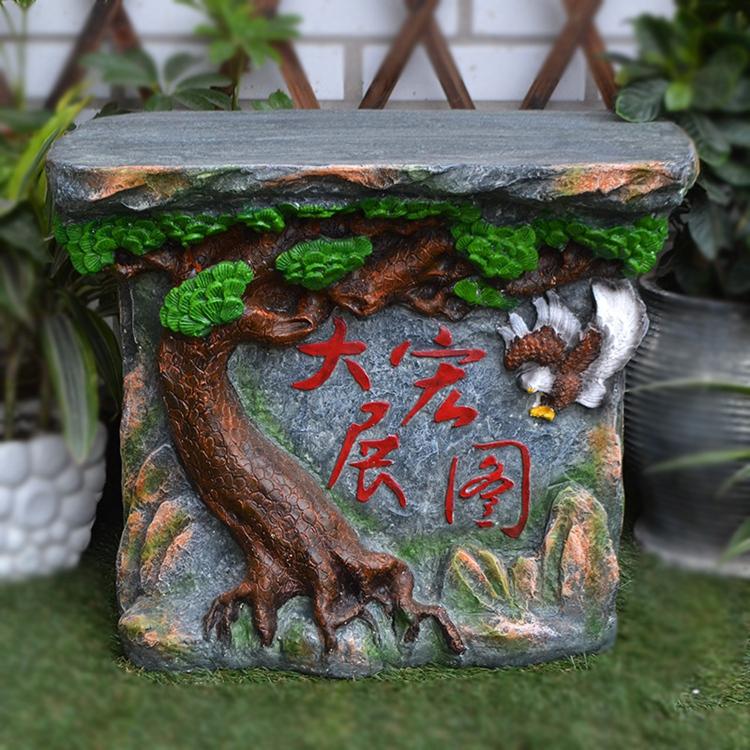 fuente de agua del jardn de rocalla rueda feng shui artesana muebles para el hogar decoracin