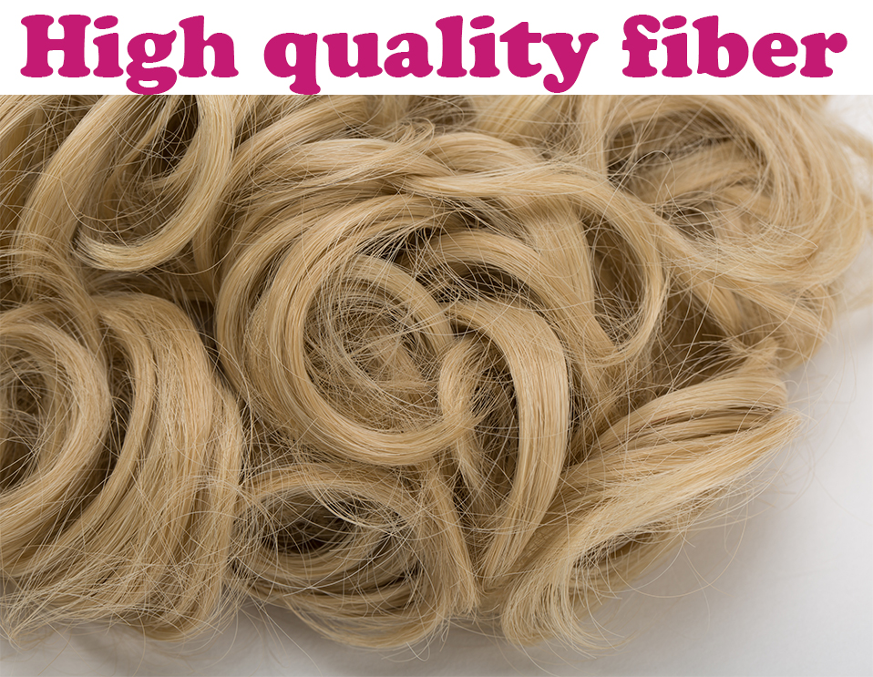 HTB17a VOkvoK1RjSZFDq6xY3pXa3 - S-noilite Hair Bun Clip in Hair Extension 2 Plastic Comb Curly Hair Chignon Synthetic Hair Messy Chignon For Women Wedding