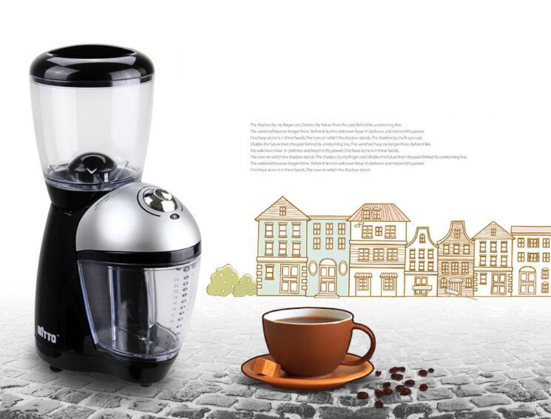 Professional coffee grinder Electric grinding machine Coffee bean Milling machine Capacity 200g xeoleo professional coffee grinder commercial coffee powder milling machine electric coffee bean grinding machine coffee maker