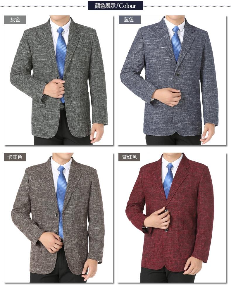WAEOLSA Men Elegance Blazers Gray Red Khaki Suit Jackets Man Notched Collar Outfits Business Casual Blazer Male Office Suit Jacket Plus Size Wear (3)