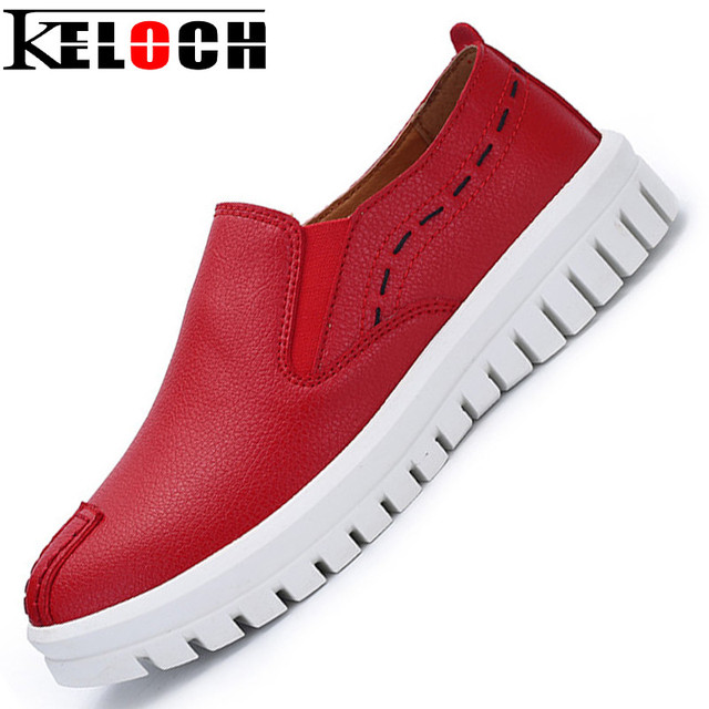 Keloch Women Shoes Hot Sale Genuine Leather Shoes Women Loafers Chaussure Femme Chaussures Femme Slip Onzapatos De Lujo Mujer