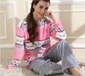 Winter Thick Keep Warm Full Sleeve Long pants and Round Neck Shirts Soft Coral Velvet Casual Homewear  Pajamas for women Ladies