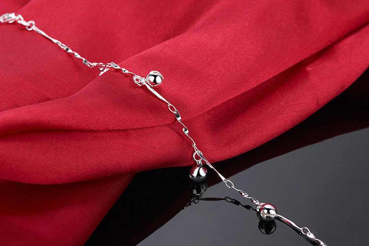 925スターリングシルバーアンクレットカジュアルはベルデザインシルバーチェーン女の子夏人気のシルバージュエリー固体銀アンクレットsl281