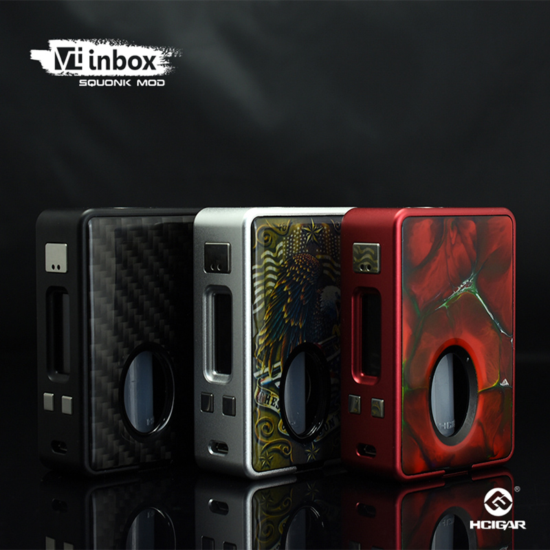 Original HCigar VT inbox Squonker Box Mod 75W Vape Powered by Evolv TC DNA75 Chip E-Cigarettes MOD original lost vape therion dna75 75w tc box mod