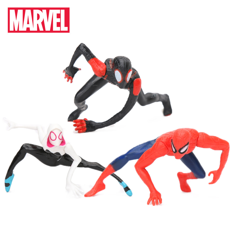 4-5CM Marvel Toys Mini Spider-Man Homecoming Spiderman Figure Spider-Gwen Miles Morales Peter Parker PVC Action Figures Figurine(China)