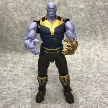 19CM Movie Avengers Infinity War Thanos PVC Action Figure Model Toy Doll Gift цена и фото