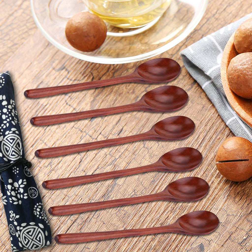 Eating Wooden Kitchen Cooking Wood Spoon Coconut Spoons Soup Spoons Tableware