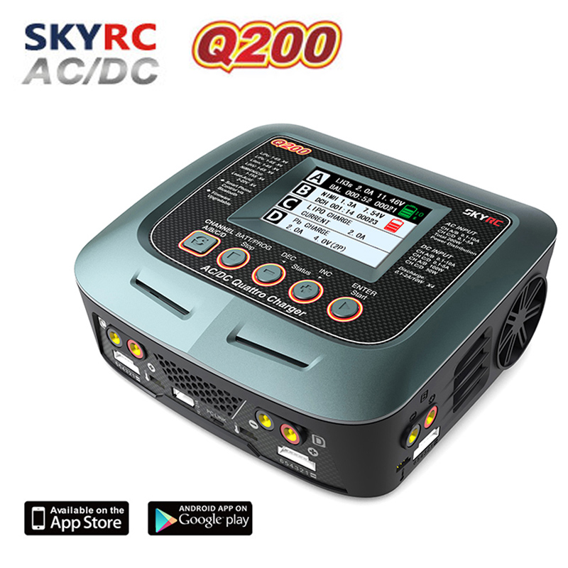 SKYRC Q200 intelligent Charger Discharger AC DC Drone Balance Charger for Lipo LiHV Lithium iron Ion