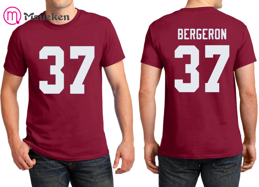 info for 529a7 5a664 US $13.99 |2018 Printed name Patrice Bergeron T Shirt Men Short Sleeve 100%  cotton O Neck T shirts for fans gift 0814 16-in T-Shirts from Men's ...